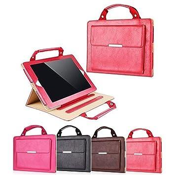 Miya System Ltd iPad Pro 12.9 Case Business Handbag Style,Miya Portable iPad Multifunctional Protective Stand Handbag with Handle Pocket and Magnetic,PU Leather Cover for iPad Pro 12.9 inch-Black