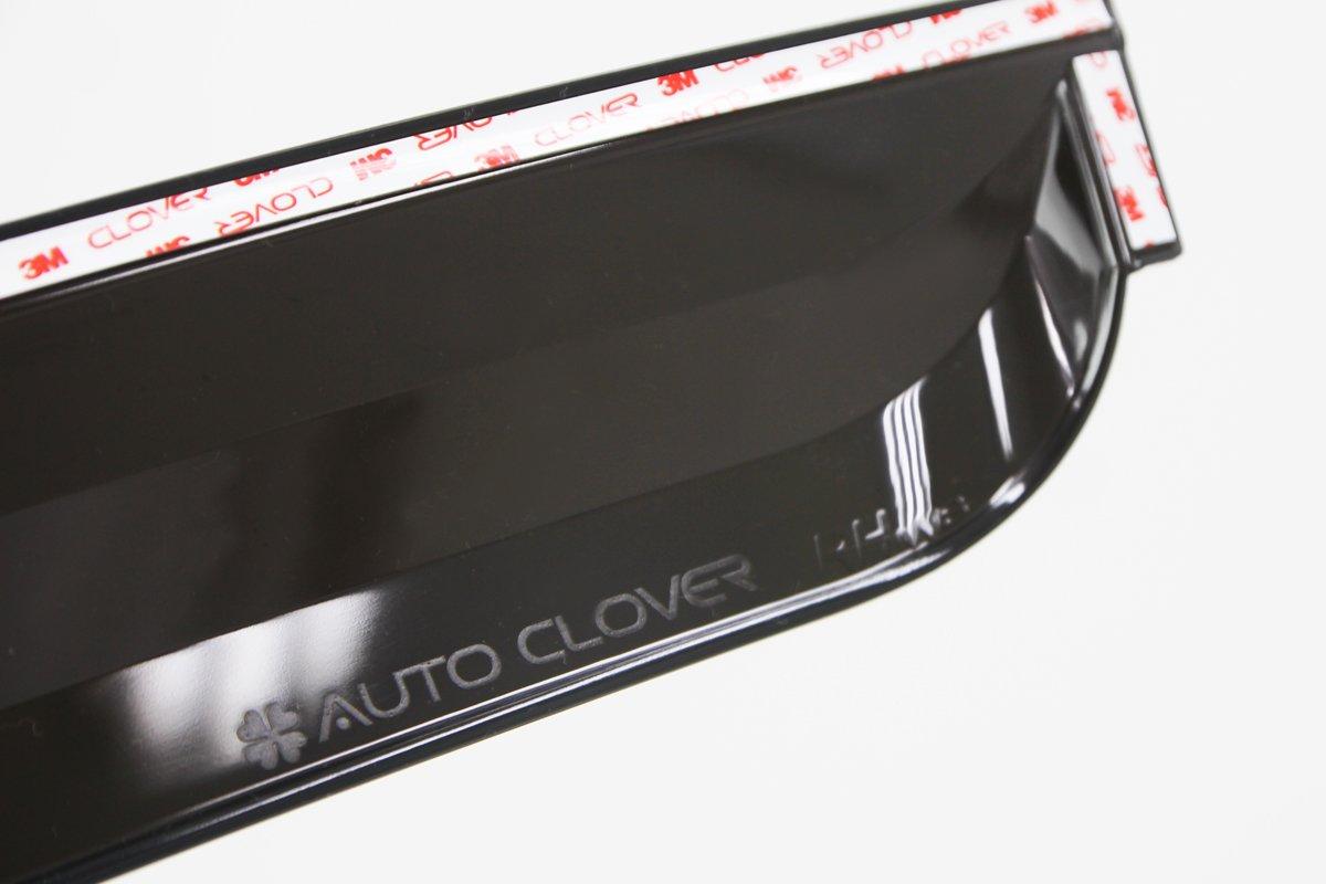 compatibilit/à non garantita con veicoli con guida a sinistra Autoclover 4/pezzi colore fumo set deflettori antivento