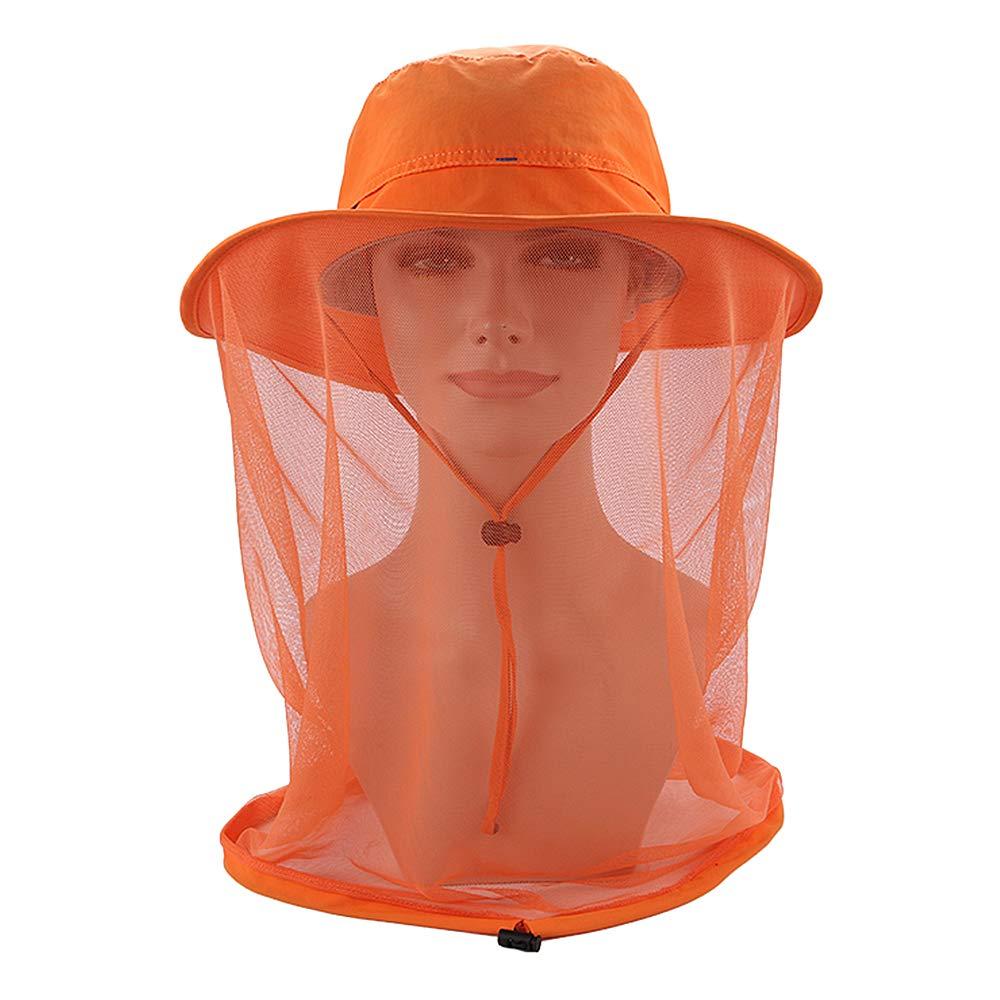 Festnight Outdoor-Moskito-Masken-Hut mit Kopfnetz-Mesh-Gesichtsschutz Angeln Sun Hat Cap
