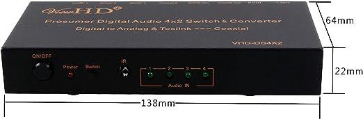 VHD-2WDA ViewHD SPDIF Audio Optical TOSLINK to Coaxial Bi-directional Converter Splitter