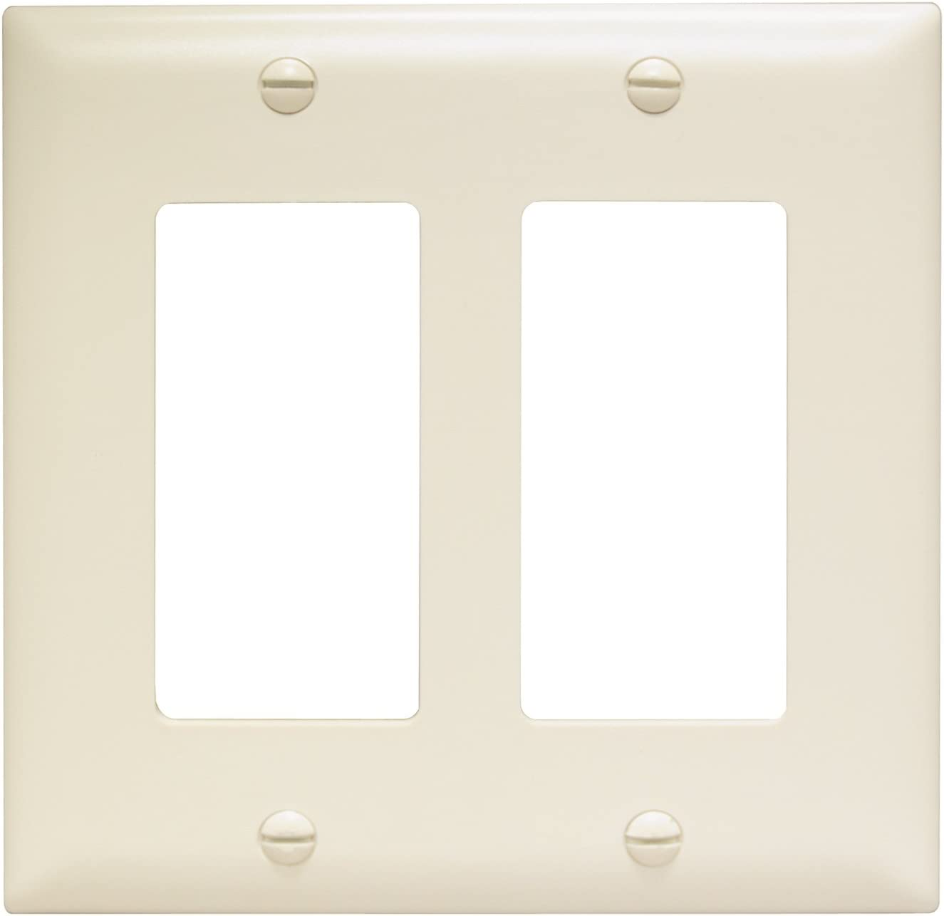 Legrand - Pass & Seymour TP262LACC30 Trade Master Nylon Wall Plate with Two Decorator Openings, Two Gang, Light Almond