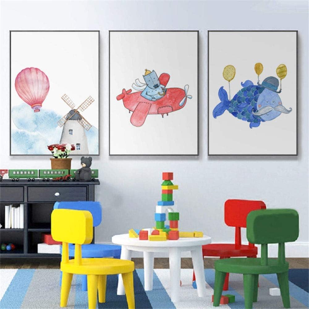 zxddzl Pintura de Animales Calidad Infantil habitación HD sin Marco decoración de Arte 4 60 * 85: Amazon.es: Hogar