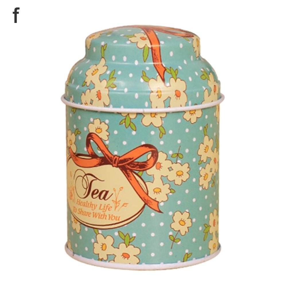 Connoworld Clearance Sale Fresh Flower Sugar Candy Tea Leaf Tinplate Storage Jar Container Sealed Can Box