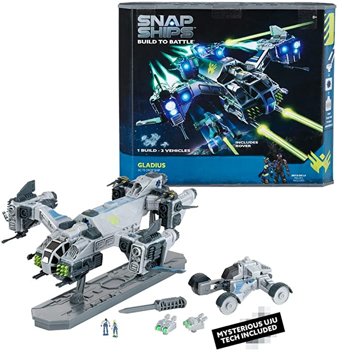 Snap Ships Gladius AC-75 Drop Ship -- Construction Toy for Custom Building and Battle Play -- Ages 8+ | Amazon