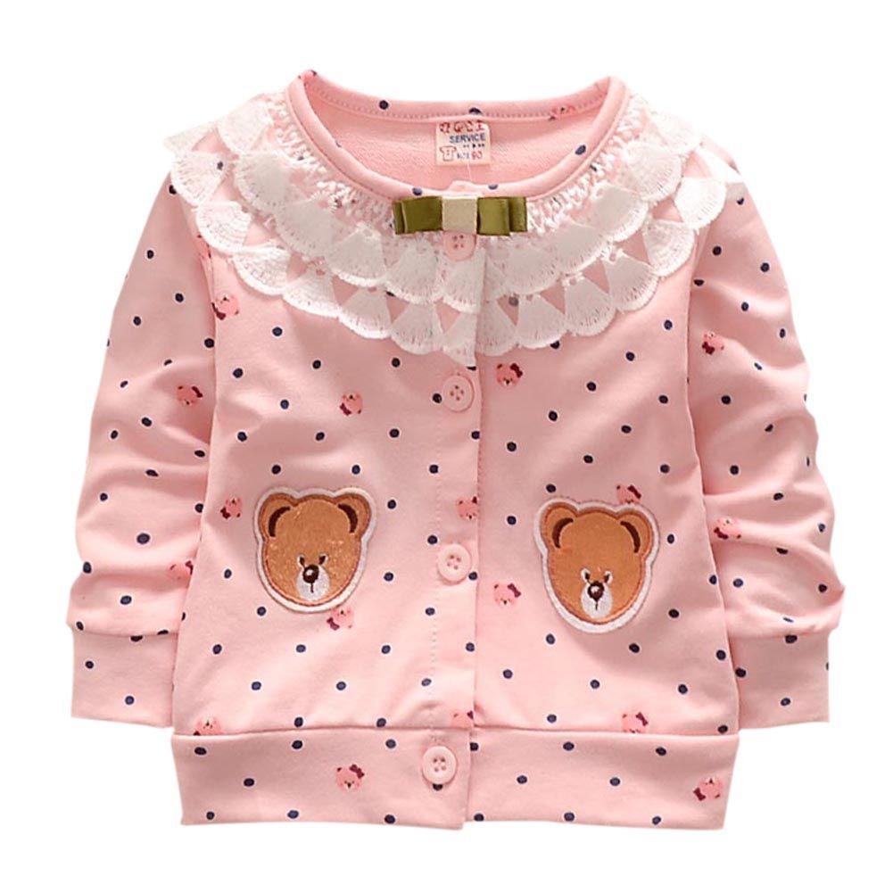 Loveble Little Girls Cardigan Thin Coat Long Sleeve Spring Autumn Jacket