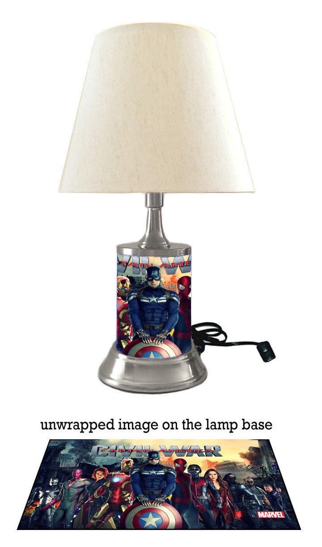 Captain America Civil War Lamp with Shade, Marvel