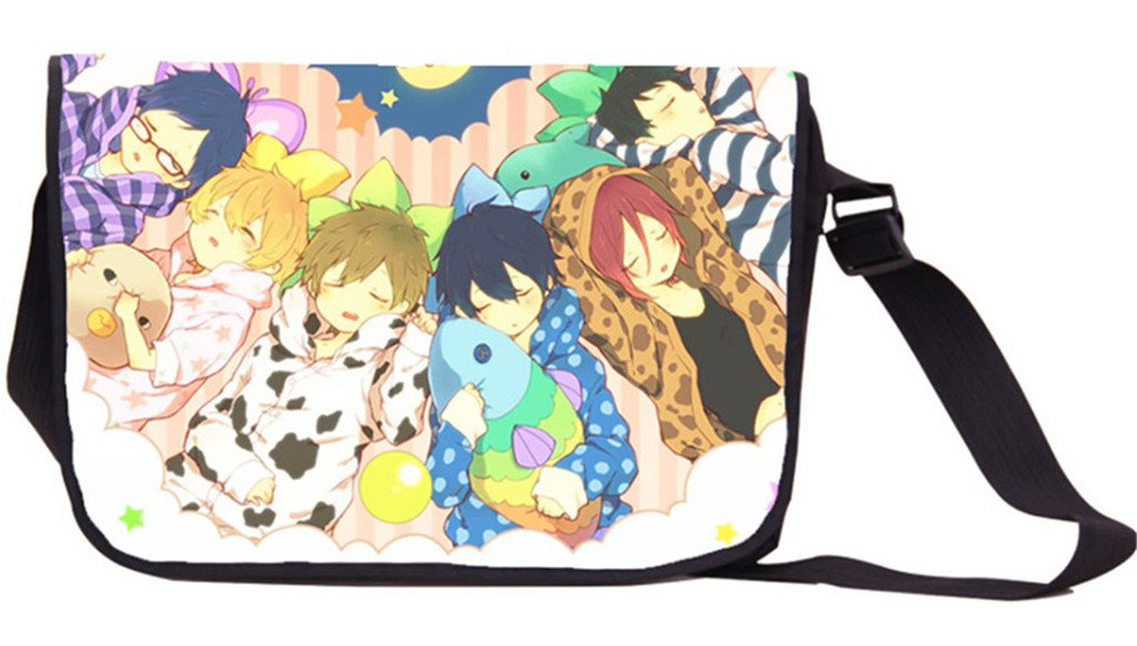 Siawasey Anime Free! Eternal Summer Cosplay Messenger Bag Cross-body Bag Tote Bag Handbag Shoulder Bag