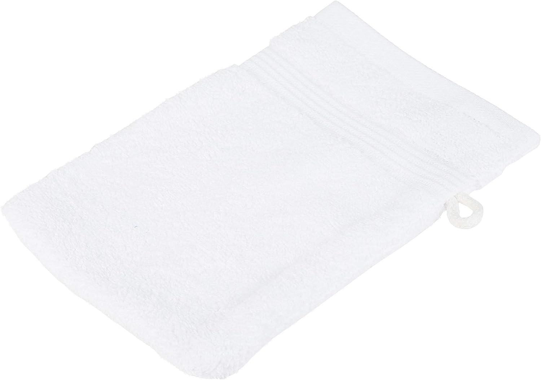 Color Blanco G/özze 550-1034-A1 Juego de Manoplas de ba/ño 4 Unidades 100/% algod/ón, 550/g//m/², con Sello Oeko-Tex 100 Standard