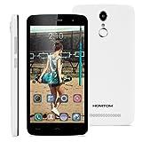 "HOMTOM HT17 Pro - 4G Smartphone Libre Multitáctil Android 6.0 (Pantalla IPS 5.5"", 1.3GHz MT6737 Quad Core, 2GB RAM 16GB ROM, 8.0MP Cámara, GPS, WIFI, OTG, Touch ID, Dual SIM) (Blanco)"