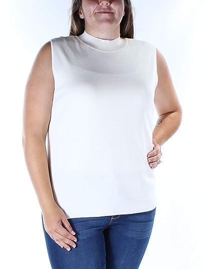 67167ea17d4804 Image Unavailable. Image not available for. Color  Alfani Womens Bandage  Sleeveless Mock Turtleneck ...