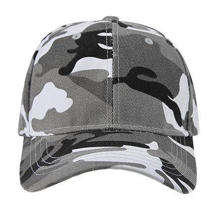b9d70cab3e311 ITODA Chapeau de Baseball Soleil en Coton Mode Couleur Camouflage Hip-hop  Casquette de Pêche