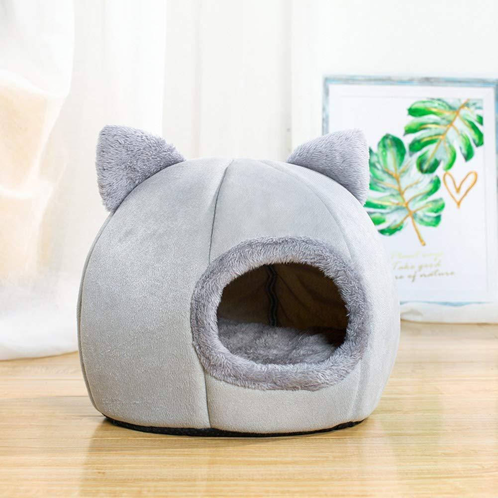 Cuccia per Animali Domestici Calda e Morbida Cuccia per Gatti e Cuccioli QUEENBACK Pieghevole