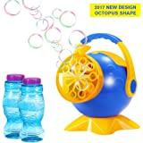 Geekper Bubble Machine for Kids - Automatic Bubble Blower Durable Bubble Maker Gift with 2 Bottles of Bubbles Solution Refill - Over 800 Colorful Bubbles per Minute Use
