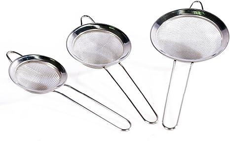 Stainless Steel Mesh Strainer Rice Colander Vegetable Sieve Kitchen Tools