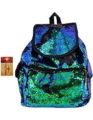 ZLMBAGUS Bling Sequin Backpack Dual Color Glitter Traval Daypack School Shoulder Bag