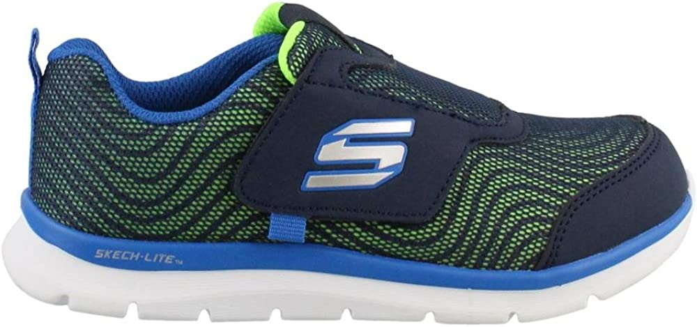 Skech Lite Double Wave Sneakers Navy 5 M Skechers Boys