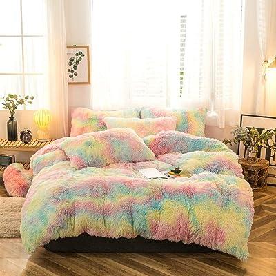 Doona Quilt Cover Set Luxury Plush Shaggy Duvet Faux Fur Home Pillow Case Sheet