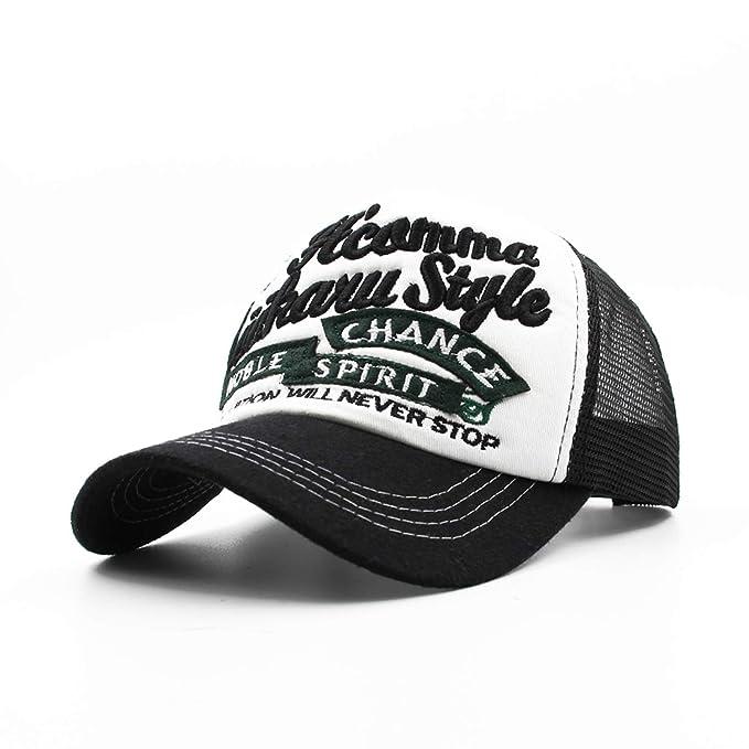 Men Women Summer Baseball Cap Mesh Embroidery Buck Trucker Bones Hip Hop Hat Casual Cotton Gorras