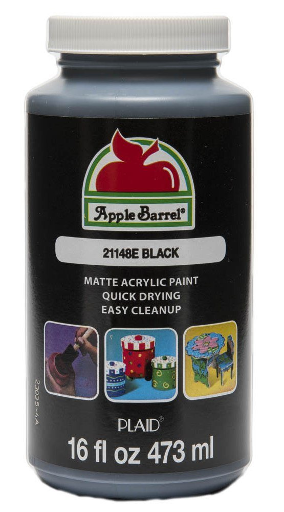 Apple Barrel Acrylic Paint in Assorted Colors (16 Ounce), 21148 Black by Apple Barrel