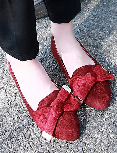 Zapatos Sint¨¦tico Casual Cn40 Tac¨®n 5 Punta Puntiagudos Eu39 Zq Red Plano 5 Comfort Mujer Rojo 5 Planos Ante Azul Cn43 De Eu42 Negro Uk8 us10 Black us8 Cn 5 Uk6 Cerrada 7vwtqAqxdc