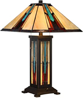 Mission prairie table lamp by robert louis tiffany desk lamps for robert louis tiffany ranier mission night light table lamp aloadofball Images
