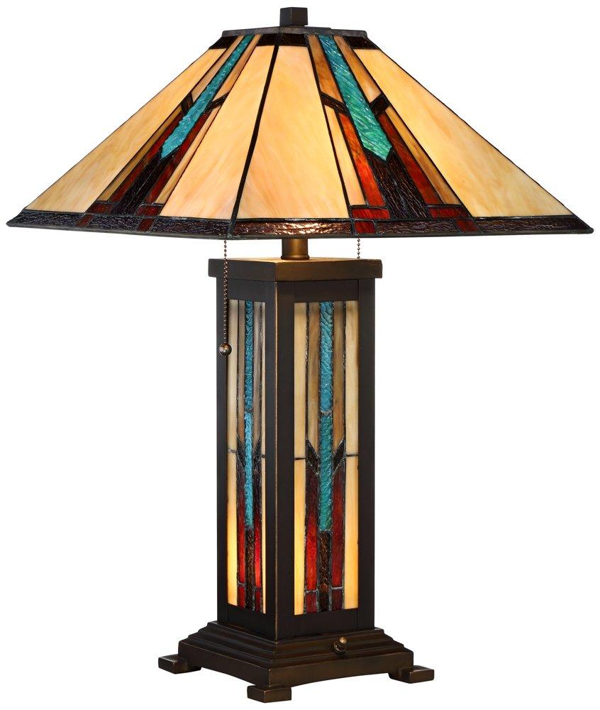 Robert Louis Tiffany Ranier Mission Night Light Table Lamp