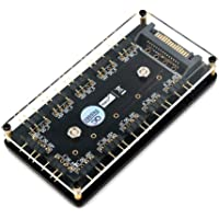 Mustpoint 12 vías 5 V RGB LED Divisor Hub con PMMA Funda y magnético Standoff para ASUS/MSI 5 V 3 Pin LED Driver con PMMA Case y magnético Standoff para ASUS/MSI 5 V 3 Pin LED Driver
