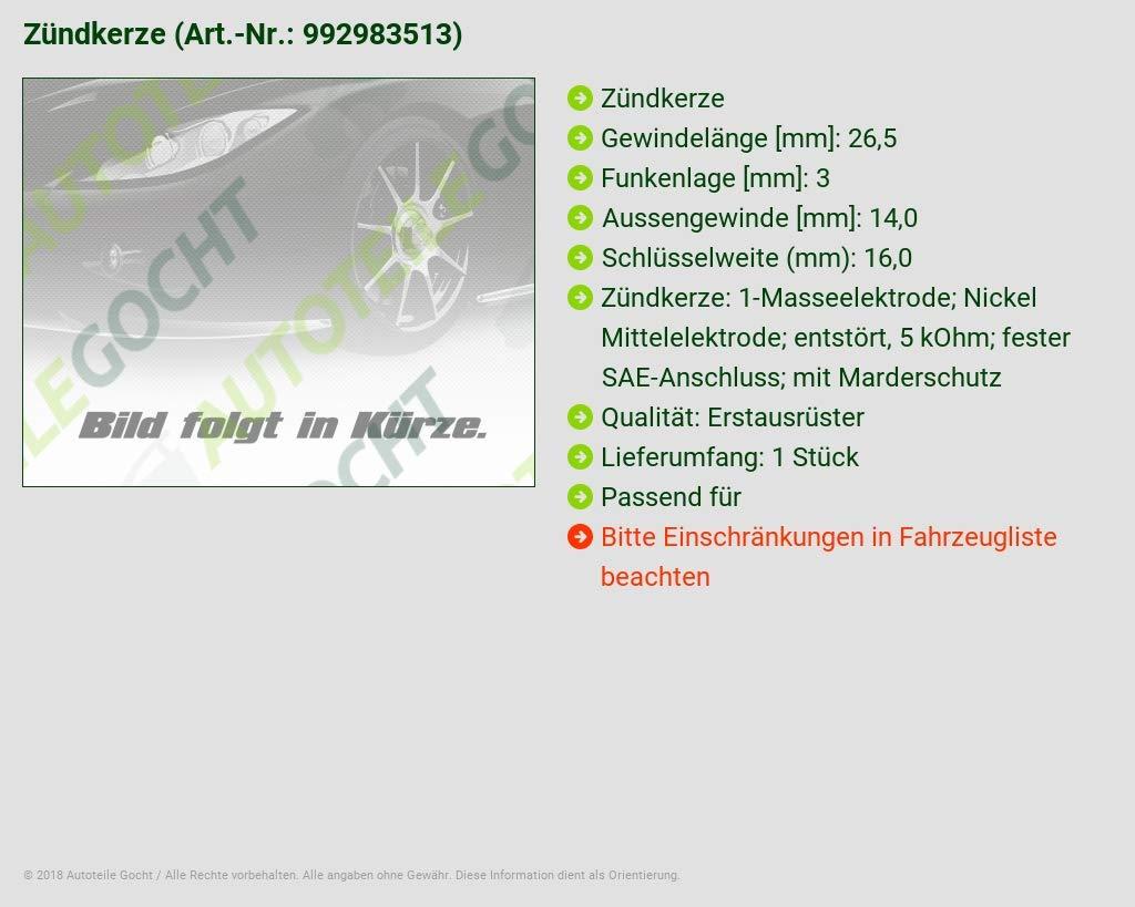 Bujía para Peugeot 407 206 2 A/C 2E/K 406 206 CC 607 Expert 224 222 VF3 VF 806 307 807 307 CC: Amazon.es: Coche y moto