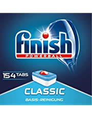 Finish Classic Spülmaschinentabs, Geschirrspültabs für Basis Reinigung, Geschirrspülmittel Tabs, Sparpack, 154 Tabs