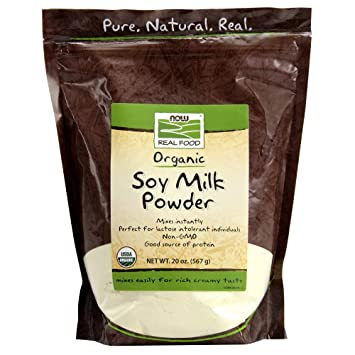 Amazon.com: Now Foods Organic leche de soja en polvo, 20 oz ...