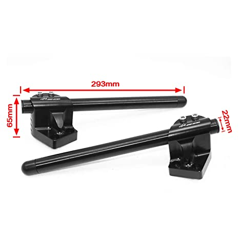 MADRACING CNC Clip On with Handlebars for Ninja 300 EX300 EX-300 2013-2017 EX250 NINJA 250R (black, Style A)