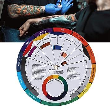 Rueda de color, tatuaje Pigmento Rueda de color Mezcla de pintura ...