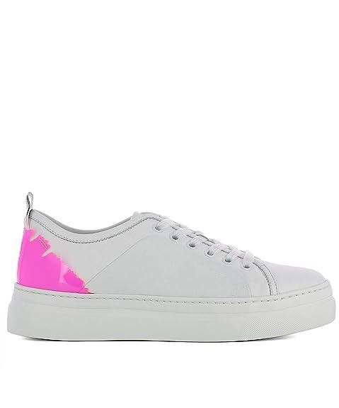 MSGM Sneakers Donna 2441Mds02075 Pelle Bianco  Amazon.it  Scarpe e borse 4a23f7809a0