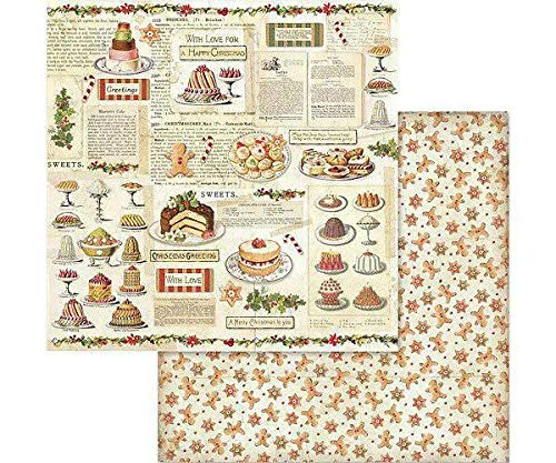Scrapbooking Double-sided Scrapbook Paper Baking Printing 30 x 30 Christmas Art Christmas Paper Sheets Stamperia Background Paper