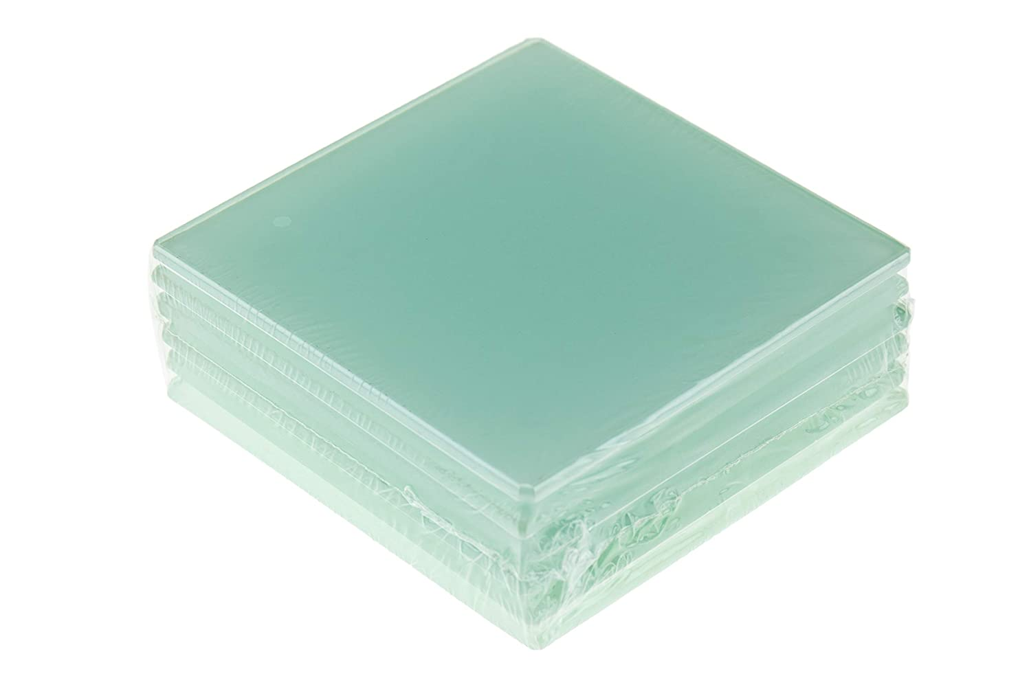 Clear Clever Chef Non Slip Durable Shockproof Square Glass Coaster 01