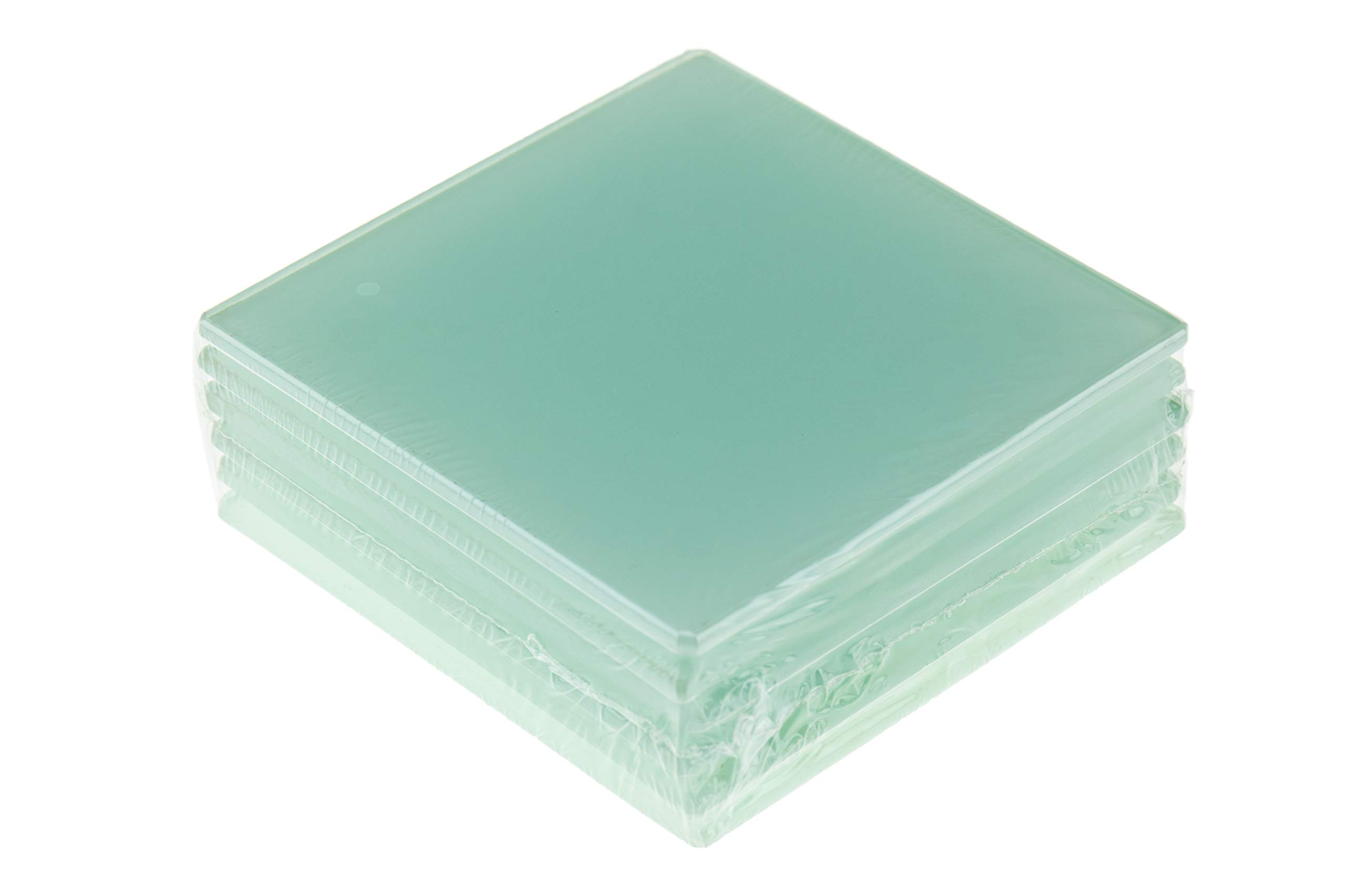 6 COASTERS ACRYLIC GLASS LOOK SQUARE COASTERS ANTI SLIP SHATTER RESISTANT X 6