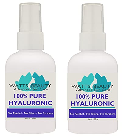 09b9194e37ee Anti Aging Wrinkle Serum of 100% Pure Hyaluronic Acid for Face - No  Alcohol, No Parabens, Vegan &...