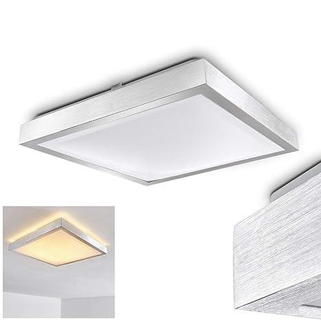 Quadratische LED Leuchte Sora für Badezimmer – Küche – Flur – Esszimmer –  Eckige Badleuchte im modernen Design mit 3000 Kelvin – Energiespar-Lampe  mit ...