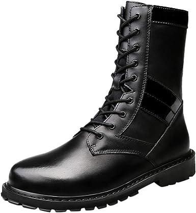 POPNINGKS Unisex Leather Boots Fashion