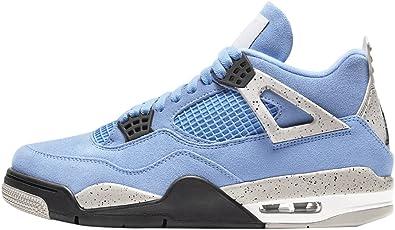 Amazon Com Jordan Hombres Air 4 Retro Ct8527 400 University Azul Talla Shoes