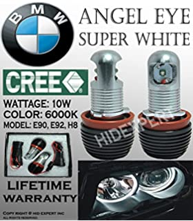ICBEAMER BMW Canbus No Error Shown Angel Eye Head Light 10W E92 H8 Halo Ring LED
