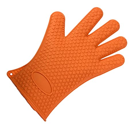 Generic Imported 1Pc Silicone Glove Nonslip Waterproof Mitts (Orange)