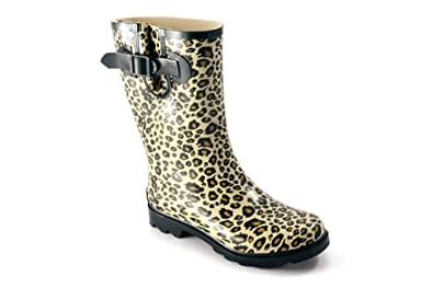 Amazon.com | Women&39s Corkys Rain Boots &quotCloud&quot - Cheetah | Rain
