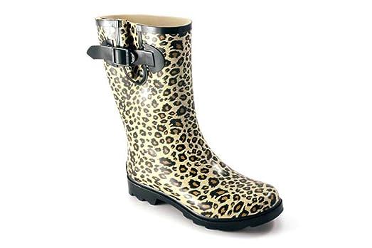 Footwear Women's Cloud Print Boots Waterproof Rubber Rain Boots