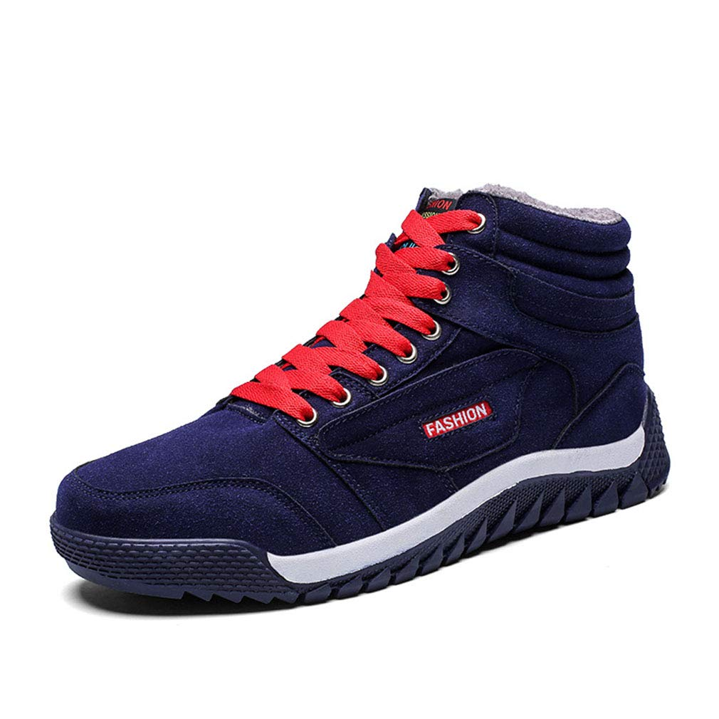 Entrega rápida y envío gratis en todos los pedidos. YAN Botas De Hombre Hombre Hombre De Gamuza Otoño Y Deportes De Invierno Zapatos De Moda Botas De Nieve Más Terciopelo De Alta Top Zapatos Casuales Encaje hasta Zapatos para Caminar Senderismo Zapatos,Blue,42  sorteos de estadio