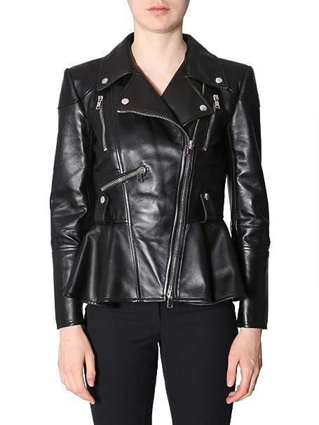 Alexander McQueen Giacca Outerwear Donna 543753Q5lbb1000 Pelle Nero   Amazon.it  Abbigliamento 9d59dbdd407
