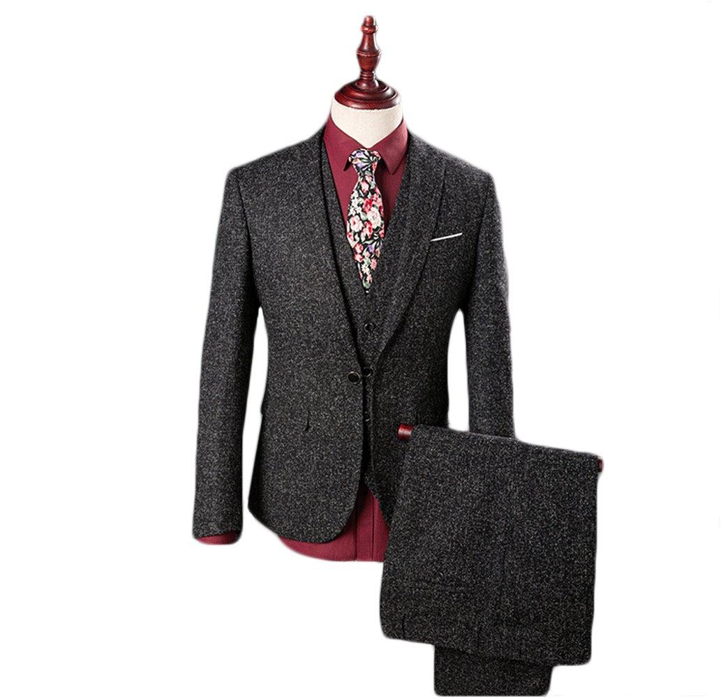 Love Dress Men's Thin 3-Piece Wedding Men Suit (Jacket+Pants+Vest) 5XL