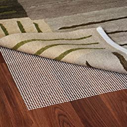 Grip-It Ultra Stop Non-Slip Rug Pad for Rugs on Hard Surface Floors, 10 by 14-Feet, Natural