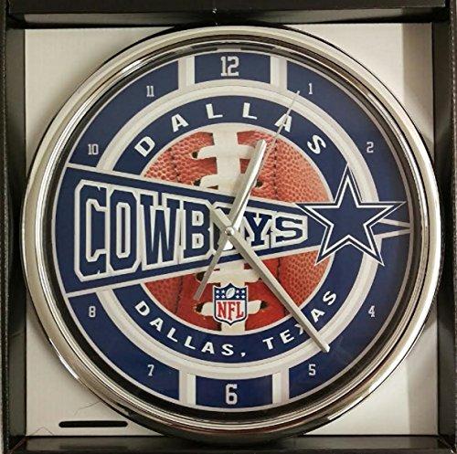 Dallas Cowboys Chrome Clock