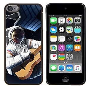 "Planetar® ( Astronauta Rusia Bandera Guitarra Traje espacial Viajes"" ) iPod Touch 6 Fundas Cover Cubre Hard Case Cover"